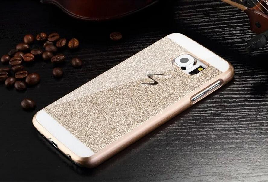 Bling Bling Fashion Shinning Case Glitter Protector Cell Phone Back S Line Cover For Samsung Galaxy S6 Edge G9250 SM-G925F(China (Mainland))