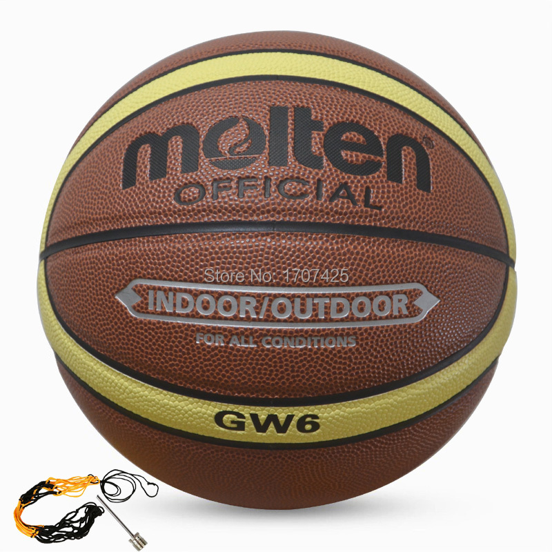 2015 New Brand Molten Women Basketball Balls GW6 High Quality PU Leather Outdoor Indoor Size 6 Basketball Ball with Needle+Bag(China (Mainland))