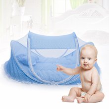 Folding Baby Crib 0-3 Years Baby Bedding Mosquito Net Portable Foldable Baby Bed Crib Mosquito Netting Cotton Sleep Travel Bed(China (Mainland))