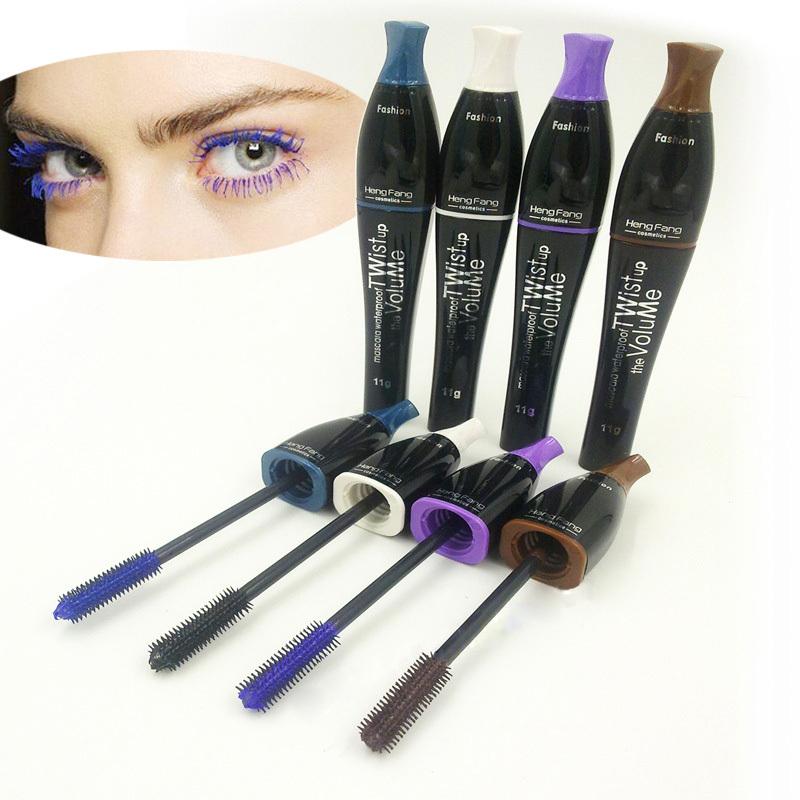 New Waterproof Color Mascara Longlasting Colorful Eyelashes Makeup
