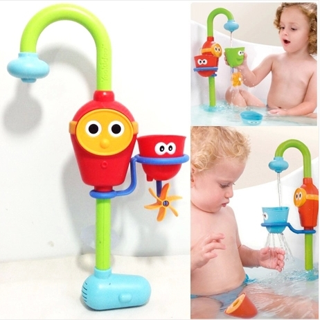 2015 Hot! baby bath toy play faucet shower spray sprinkler hose Stacker Toy free Shipping(China (Mainland))
