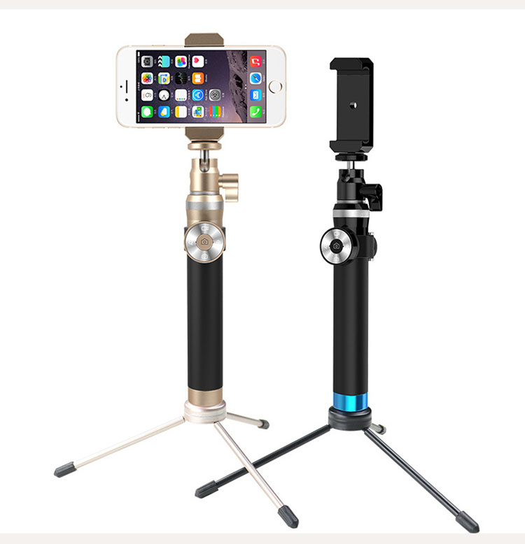 omala metal selfie stick extendable pole bluetooth self shooting monopod for iphone 6 plus 5 5s. Black Bedroom Furniture Sets. Home Design Ideas