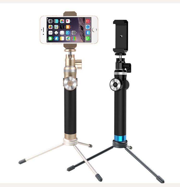 omala metal selfie stick extendable pole bluetooth self shooting monopod for. Black Bedroom Furniture Sets. Home Design Ideas