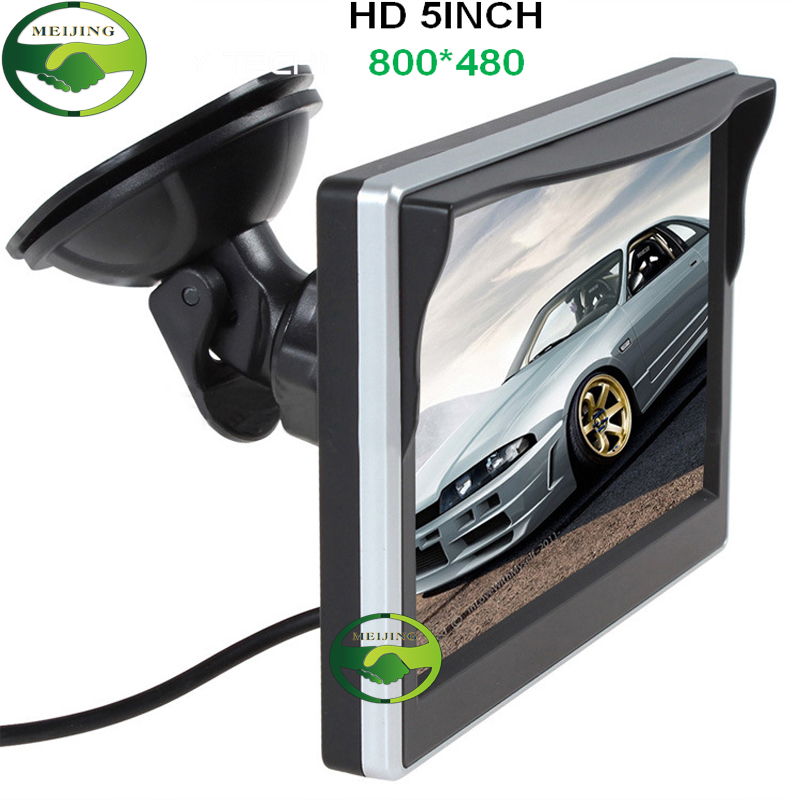 """New TFT 5"""" Auto Video Player 5 inch Car Parking Monitor With 2CH Video Input For Car Rear View Cameras Equipment(China (Mainland))"""