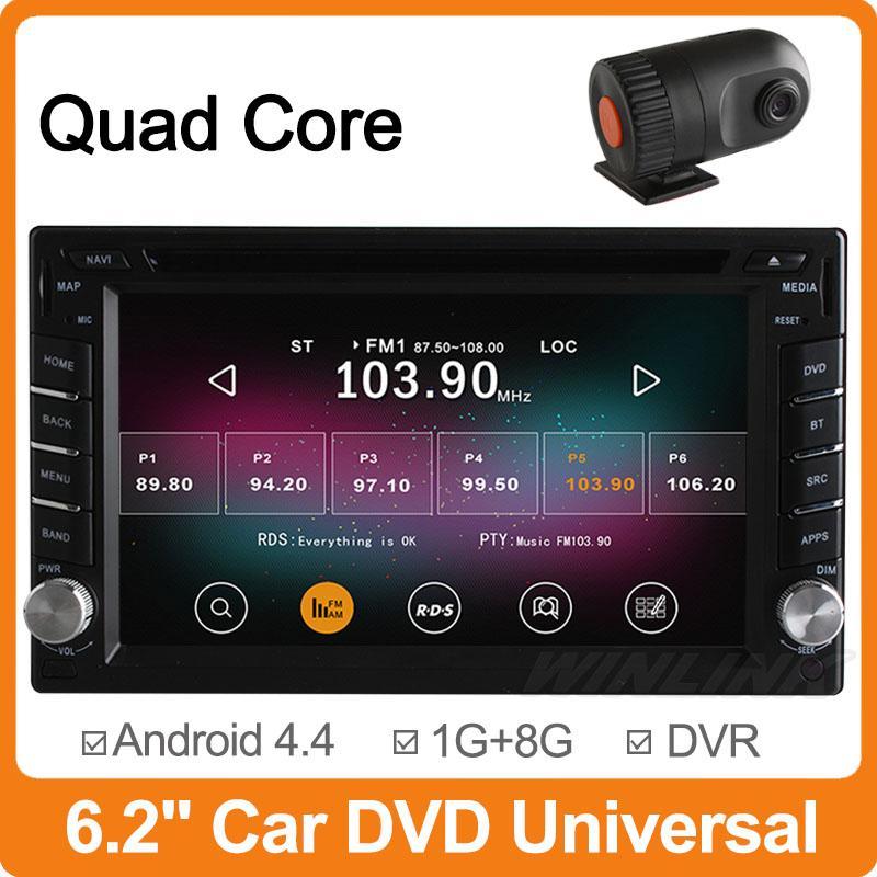 Android 4.4 4 Core Universal Car DVD 2 Din 178mm*100mm GPS Navigation Auto Radio Headunit Stereo For Nissan Qashqai X-trail +DVR(China (Mainland))