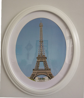 1 pc Classic Oval Photo Frame Wall Decoration Ellipse Picture Frame White Brown Black Wall Frames Wedding Gift(China (Mainland))