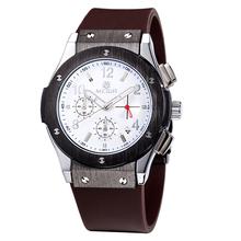 Megir marca Hombre Relojes de lujo de la correa de silicona trabajo de mano 6 calendario resistente al agua reloj de cuarzo analógico grande Bang Relojes Hombre