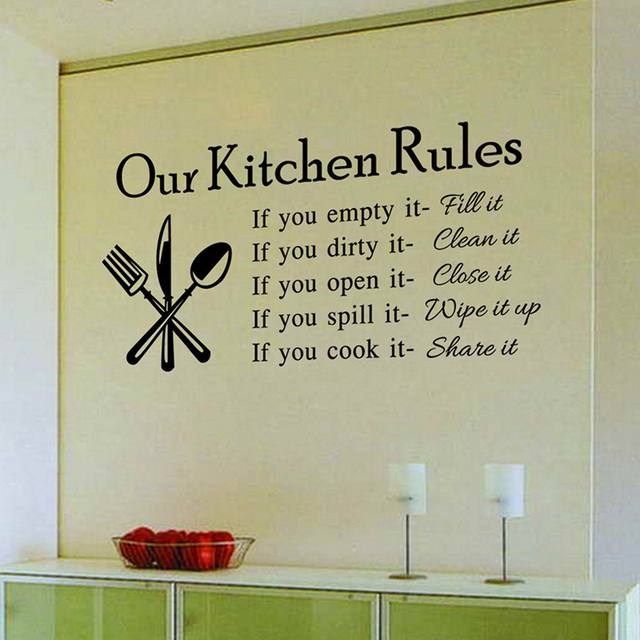 Our Kitchen Rules Wall Stickers