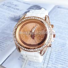 Reloj de moda de ginebra de silicona kors famosa marca mujeres rhinestone relojes de lujo vestido relojes hombres deportes relojes 13 colores