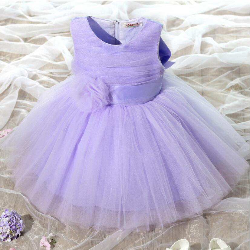 Retail sleeveless lace girl dress 2017 child Wedding flower baby girl princess party bow children's wear dress High quality(China (Mainland))