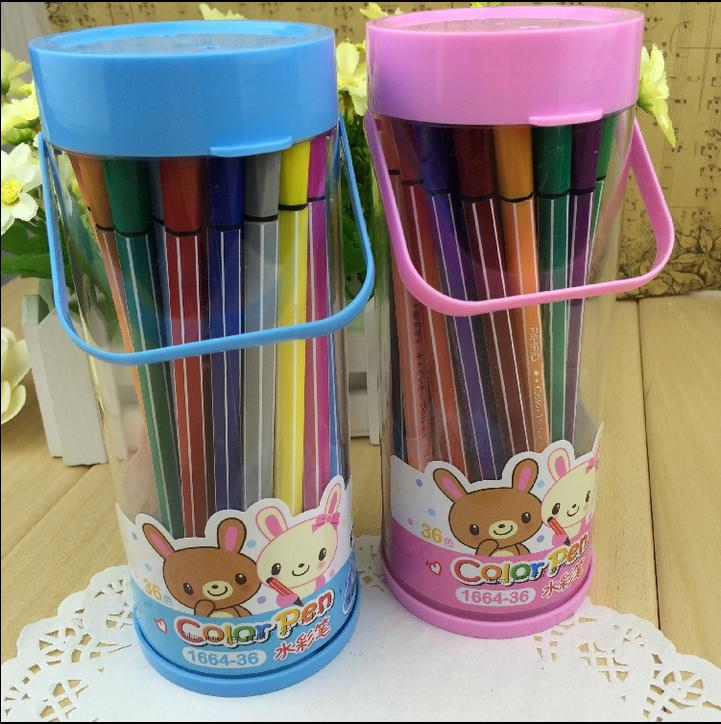 Promotional New Colorful Pen Washable Non-toxic Children Students Draw Paint Brand Smooth Stationery High Quality Free Shipping