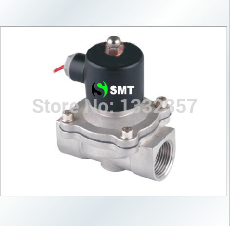 Free Shipping Solenoid Valve 1'' SS Valve Air Water Gas Diesel Stainless Steel & Viton 2S250-25 DC12V,DC24V,AC110V or AC220V(China (Mainland))
