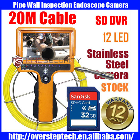 20M real color video sewer pipe inspection camera,pipe weld inspection camera,camera inspection pipe industrial with SD card<br><br>Aliexpress