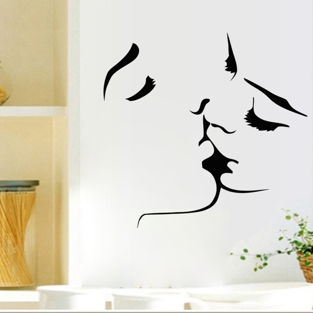 Romantic lovers kissing wall decals living room bedroom Wall stickers for bedrooms