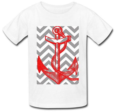 2015 Most popular Slim Fit Men T shirt Infinite Anchor pattern printed Free Shipping Custom T Shirts Man Free Shipping(China (Mainland))