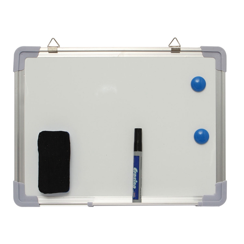 400mmx300mm 1 Set Magnetic Dry Wipe Portable Double Side Whiteboard Notice Message Board Presentation Office School Supplies(China (Mainland))