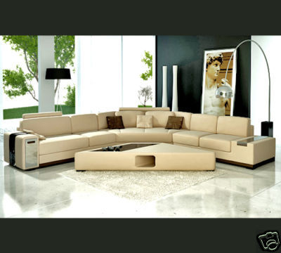 Home Furniture Sofa Set Leather Corner Home Furniture Living Room Set L Shape Sofa Living Room