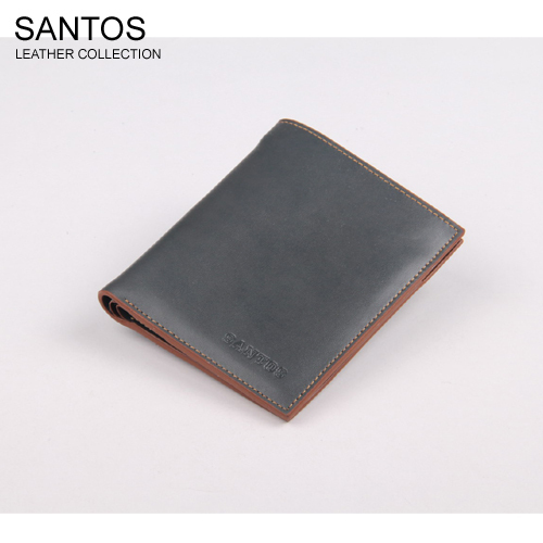 Santos Free Shipping + Latest Design Wallet +  Original Wallet +  Man's Leather Purse SAQBS037-L