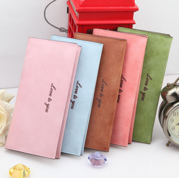 2014 New Women  PU Leather High Quality  Wallet   Scrub   Cute Card Holder Bag Purse Clutch Coin  Pocket WBG1130<br><br>Aliexpress
