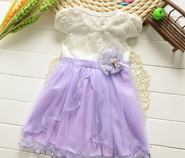 girl dress baby kids clothes 2015 new fashion high quality cotton children clothing girls Lace princess dress(China (Mainland))