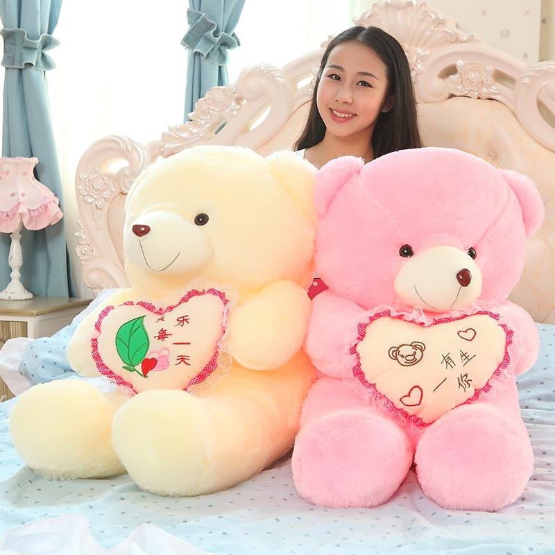 Plush toy bear doll bear doll big cloth Teddy bear scarf bears plush toy girl birthday gifts new Year gift(China (Mainland))