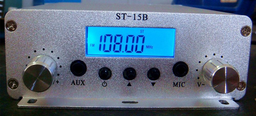 1.5W/15W FM stereo PLL broadcast radio transmitter + Power supply+ GP antenna kit 87MHz~108MHz(China (Mainland))