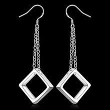 Buy silver plated earrings fashion jewelry earrings beautiful earrings high block pendant earrings js gd for $1.25 in AliExpress store