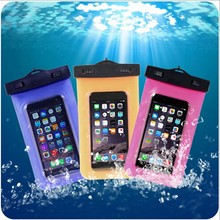 New ! China Customized PVC waterproof mobile cell phone bag smartphone bag for swimming(China (Mainland))