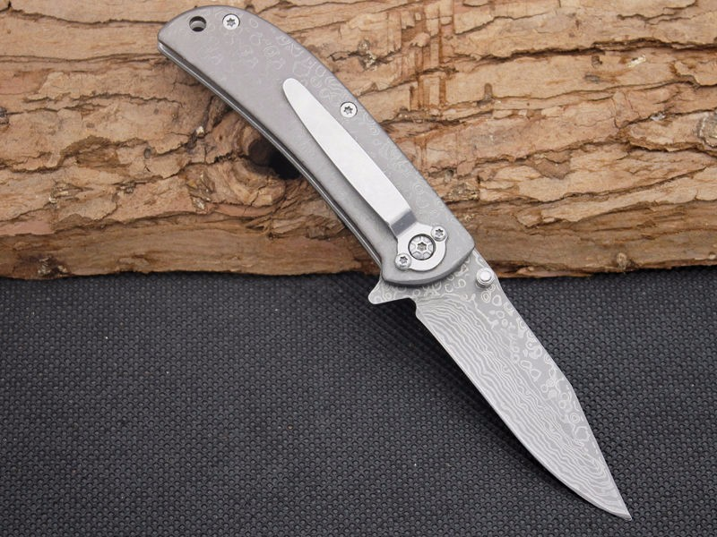 Buy Folding Knife Browning 5CR13MOV Blade Damascus Pattern Survival Knifes Pocket Hunting Tactical Knives Camping Outdoor Tools y102 cheap