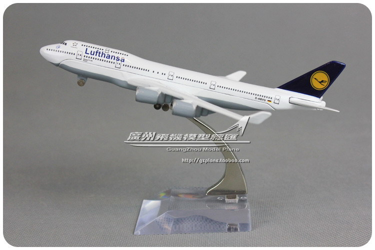 16cm Air Germany Lufthansa Airlines Plane Model Boeing B747 400 Alloy Metal Airplane Model Toy Gift Collections Free Shipping(China (Mainland))