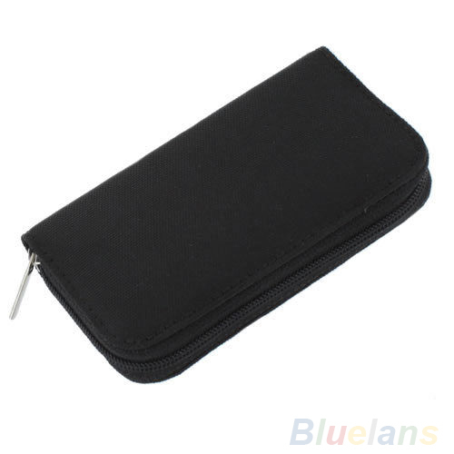 Black SD SDHC MMC CF Micro SD Memory Card Storage Carrying Pouch bag Case Holder Wallet