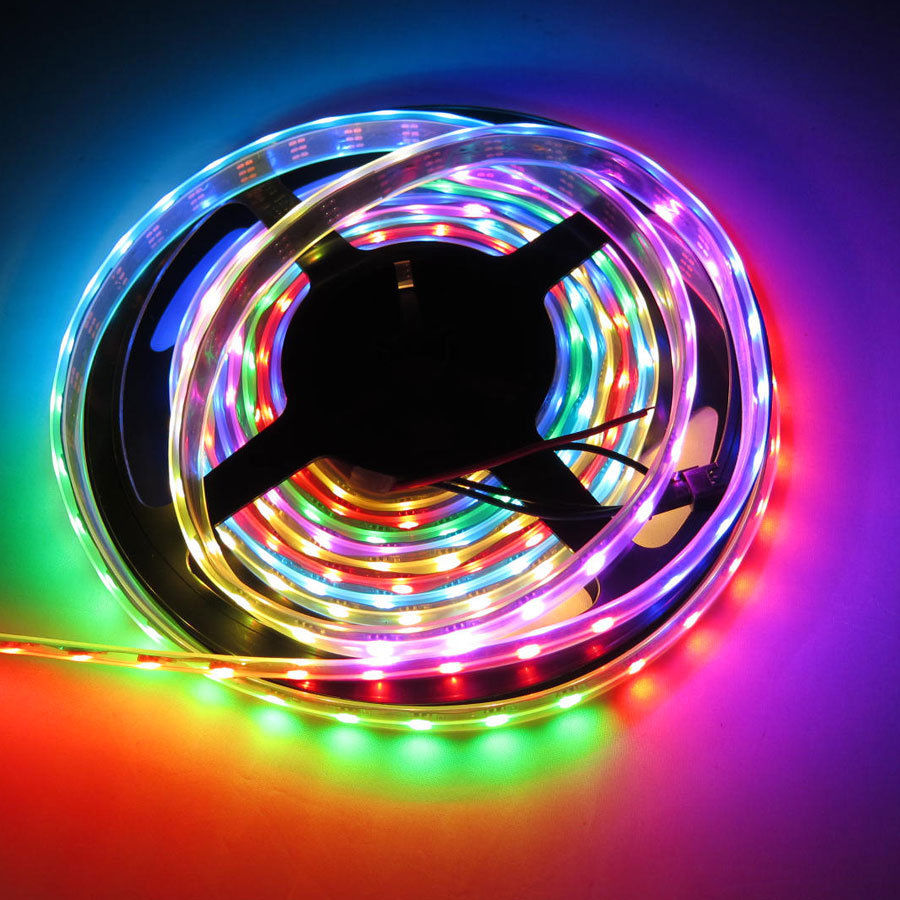 5M Digital RGB WS2811 LED Strip Light 5050 SMD Waterproof IP67 IP68 Addressable WS2811ic DC12V 30/48/60 Pixels Dream Color(China (Mainland))