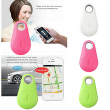 hot selling anti-lost smart bluetooth tracker  Child Bag Wallet Key Finder GPS Locator Alarm 4 Colors Newest(China (Mainland))