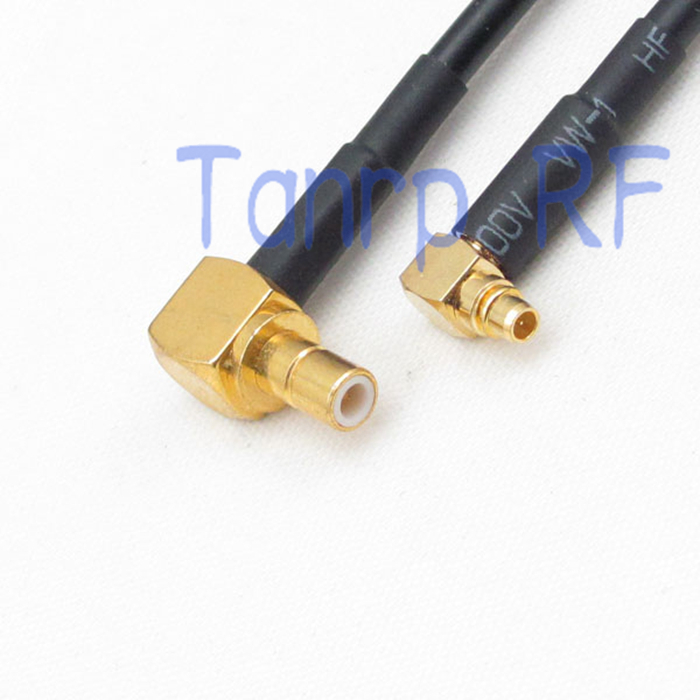 10pcs 6in MMCX male plug to SMB male both right angle RF connector adapter 15CM Pigtail coaxial jumper RG174 extension cable<br><br>Aliexpress