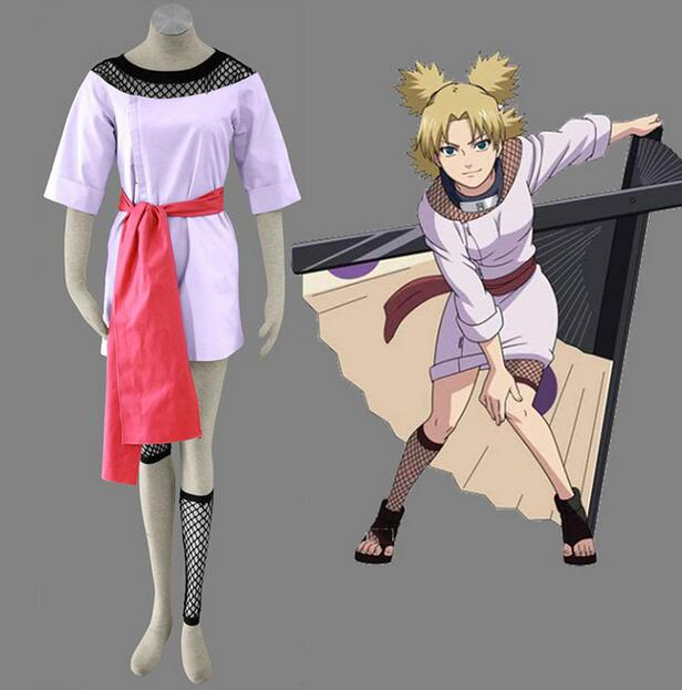 High Quality Hot Anime Cosplay Naruto Costume Temari Cosplay Costumes Dress(China (Mainland))