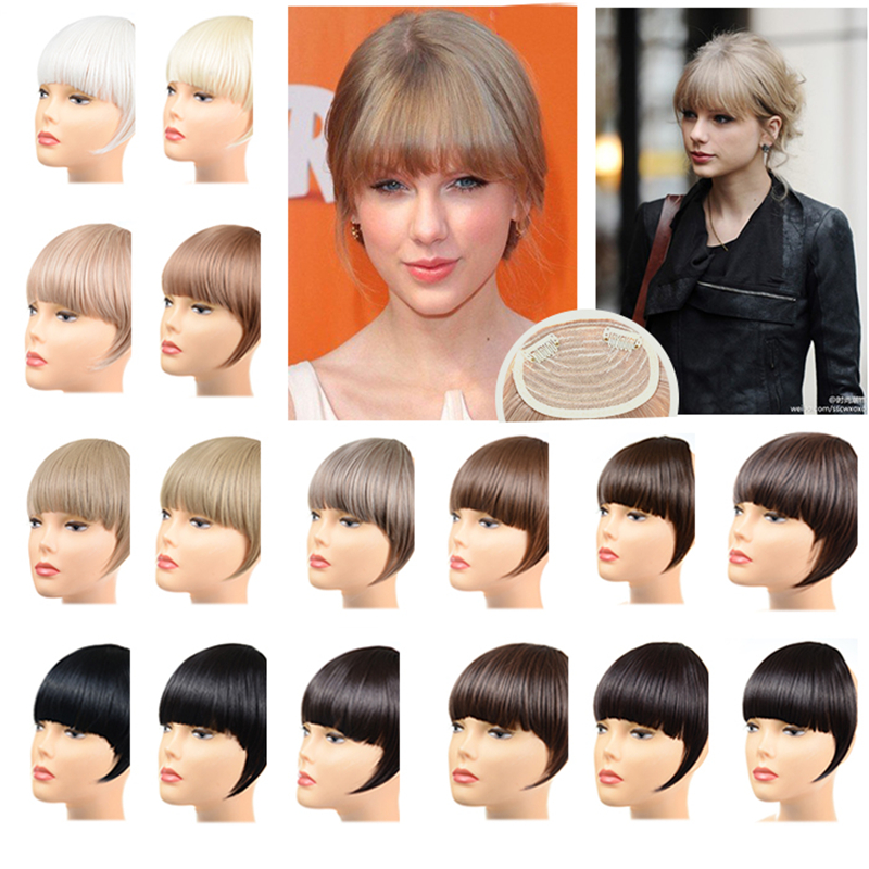 Гаджет  Fashion Designer Headband Hair clip in on sythetic hair Bangs Fringe Neat With Temples Wigs Synthetic Hair Accessories Hair Band None Волосы и аксессуары