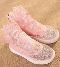 Fiesta de los niños zapatos de primavera 2016 de encaje ahueca hacia fuera los zapatos de estilo dulce de la manera de los niños zapatos de la princesa elsa caliente infantis 453d(China (Mainland))