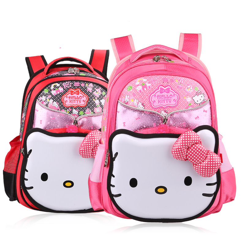 Lovely hello kitty Children school bags breathe freely alleviating burdens students BACKPACK girl princess High Capacity mochila(China (Mainland))
