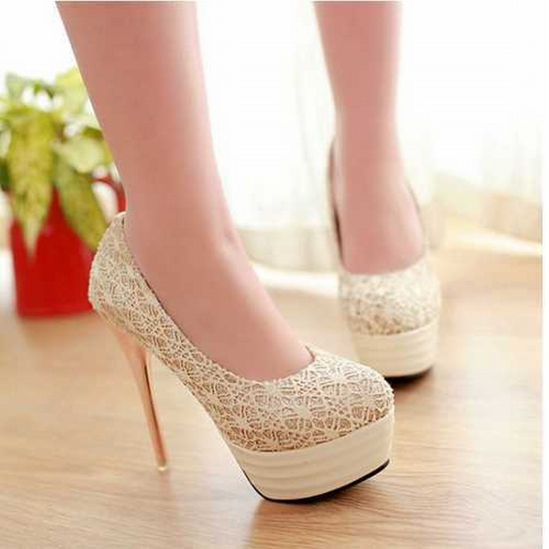32-43Sexy Lace Metal Spool Heel Pumps 2015Brand Red Bottoms High Heels Shoes Party Spring Pumps Summer Shoes Women Wedding Shoes
