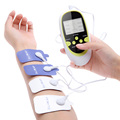 dual output mini electronic slimming body physiotherapy tens therapy massager machine 8pcs electrode pads electrostimulator