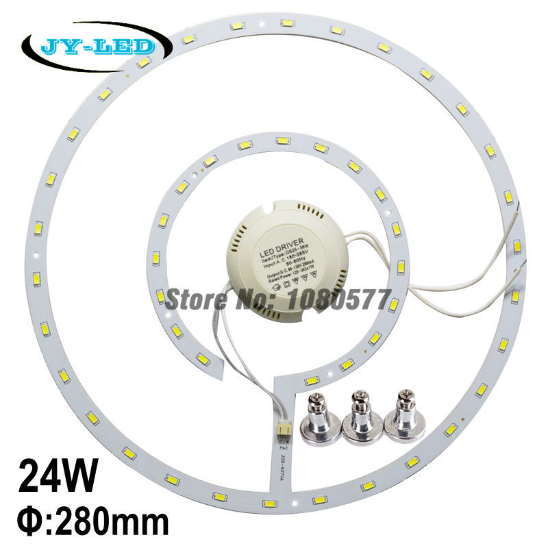 SMD5730 24w LED Ceiling Light Panel Board LED Remoulding Plate Round Disc Lights With Magnet Screw + Driver(China (Mainland))