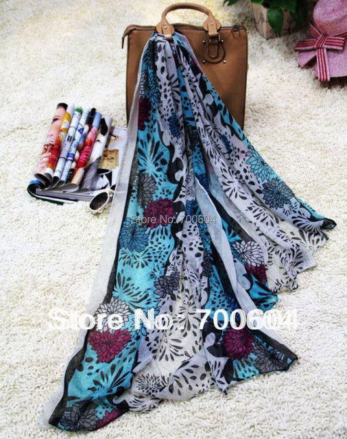 Fashion Floral Printed Spring & Summer Infinity Woman Shawl/Wrap Scarves, wholesale, SF580