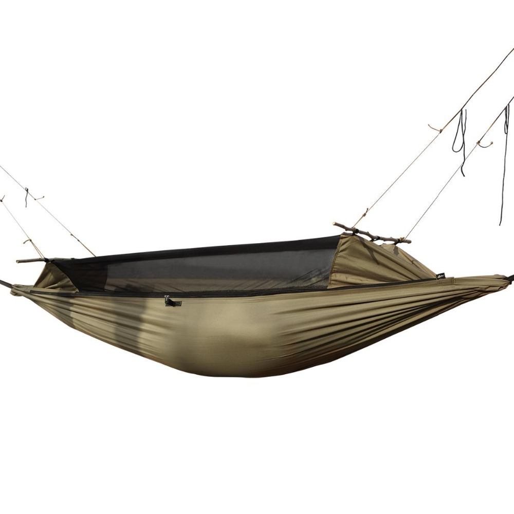 Camping Hiking Outdoor Survivor Portable Mosquitoe Hammock Wear-Resisting Large Tent For Person 180-195cm Height