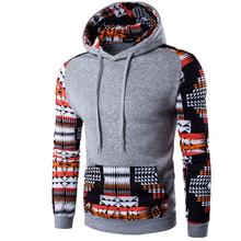 2016 Hoodies Men Hombre Hip Hop Male Brand Hoodie Digital Printing Sweatshirt Suit Mens Splice Slim Fit Men Hoody XXL QMCG(China (Mainland))