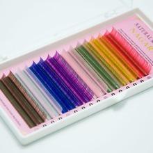 2 trays set,,16rows/tray, 8 Colors ,Rainbow Colored Eyelash Extension ,color eyelashes,colorful eyelash extension(China (Mainland))