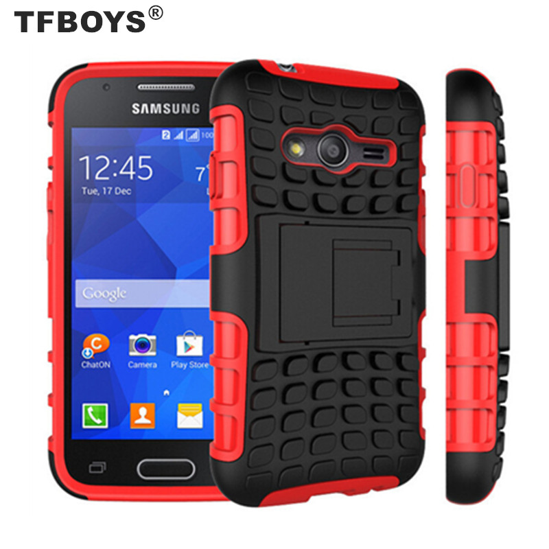 TFBOYS Dual Layer Armor Hybrid Kickstand Case For Samsung SM-G313HU/DS Galaxy ACE 4 Duos Case ShockProof Cover(China (Mainland))