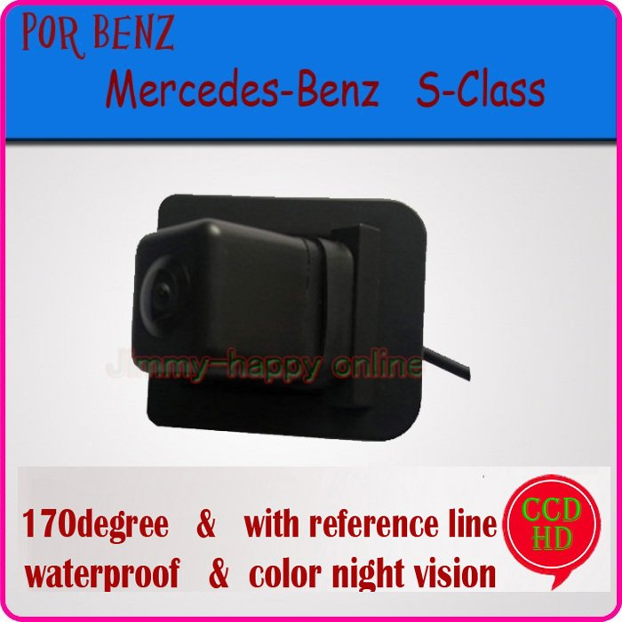 Color CCD HD night vision car rear camera car monitor parking system backup viewer car security camera for Mercedes-Benz S-Class(China (Mainland))