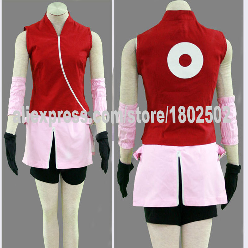 NARUTO Cosplay Costume Girl Women Full Set(China (Mainland))
