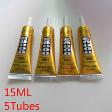 Free Shipping 5 Tubes 15ml E8000 Clear Adhesive Sealant Glue For Diy Diamond Clothes Shoes Paste Jewelry Craft Phone Border Glue(China (Mainland))