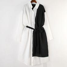 XITAO פס תחבושת Midi שמלה בתוספת גודל נשים טלאי צבע להיט מזדמן שמלה אלגנטית ארוך שרוול חדש קיץ CXB1320(China)